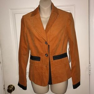 W by Worth New York Orange Denim Tuxedo Jacket